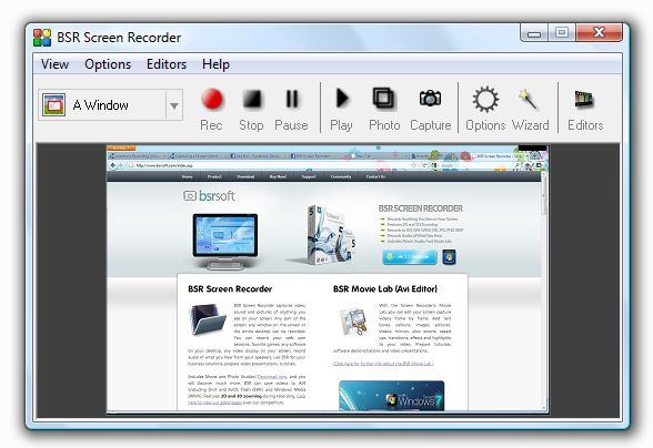 BSR Screen Recorder screenshot